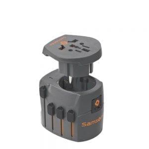 Samsonite Accessoires Geaarde Wereld Adapter graphite