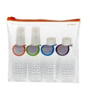 Samsonite Accessoires Toiletartikelen Fles Set transparant