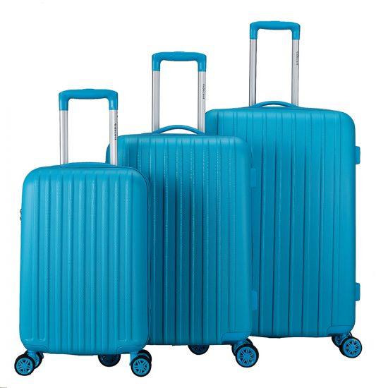 Decent Tranporto-One 3-Delige Kofferset Light Blue