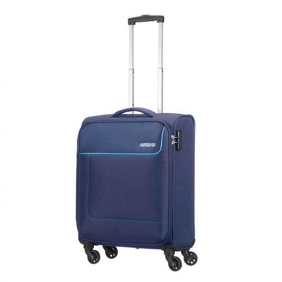 American Tourister Funshine Spinner 55 orion blue Zachte koffer