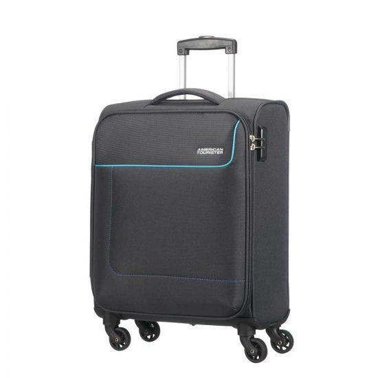 American Tourister Funshine Spinner 55 sparkling graphite Zachte koffer