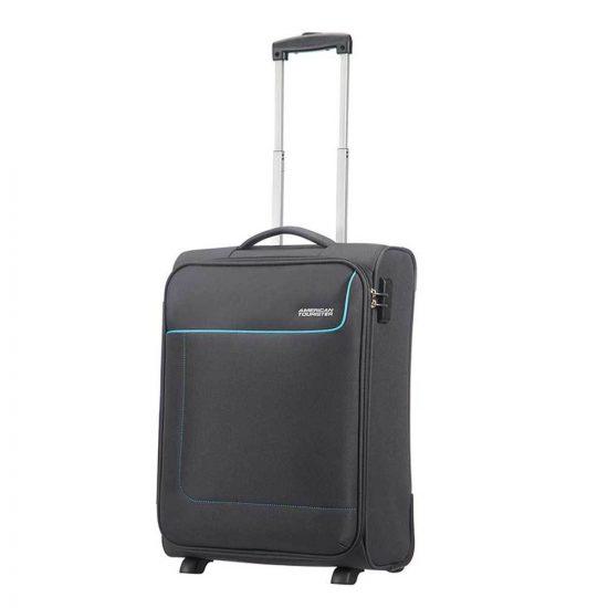 American Tourister Funshine Upright 55 sparkling graphite Zachte koffer