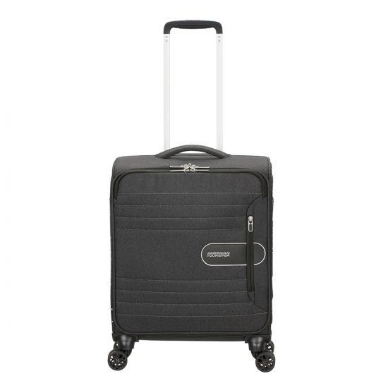 American Tourister Sonicsurfer Spinner 55 black speckle Zachte koffer