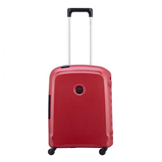 Delsey Belfort 3 Slim 4 Wiel Cabin Trolley 55 red Harde Koffer