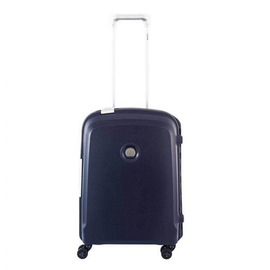 Delsey Belfort Plus Slim 4 Wiel Cabin Trolley 55 blue Harde Koffer