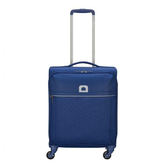 Delsey Brochant 4 Wheels Slim Cabin Trolley 55 blue Zachte koffer