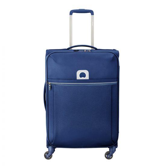 Delsey Brochant 4 Wheels Trolley 67 blue Zachte koffer