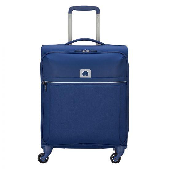Delsey Brochant Slim Cabin Trolley Case 4 Wheel 55 Blue