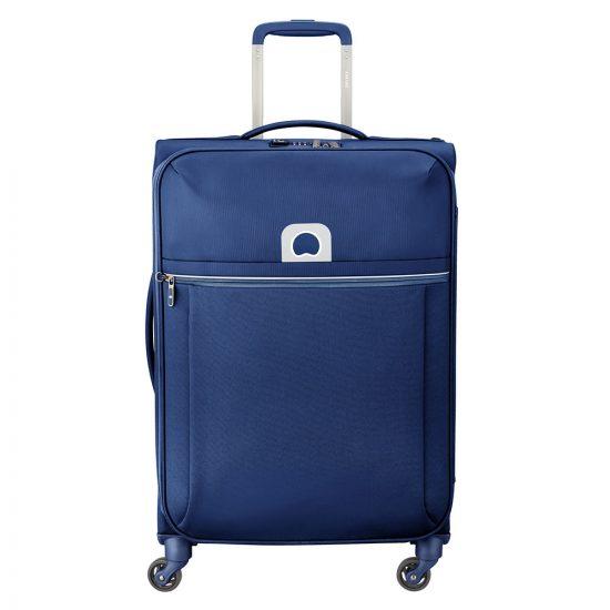 Delsey Brochant Trolley Case 4 Wheel 67 Blue