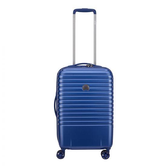 Delsey Caumartin Plus 4 Wheels Cabin Trolley 55 blue Harde Koffer