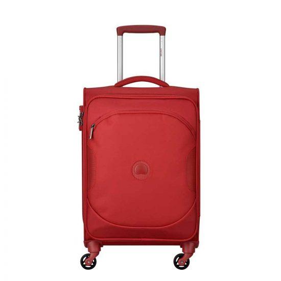 Delsey U-Lite Classic 2 4 Wiel Cabin Trolley 55 red Zachte koffer