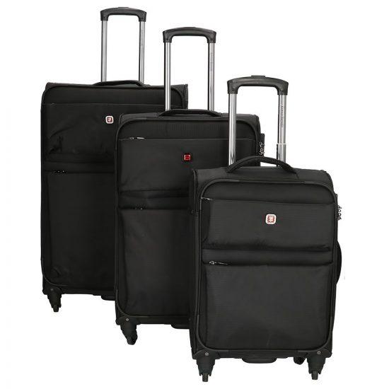 Enrico Benetti Phoenix kofferset 3-delig black