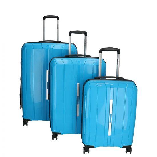 Enrico Benetti Portland kofferset 3-delig sky blue