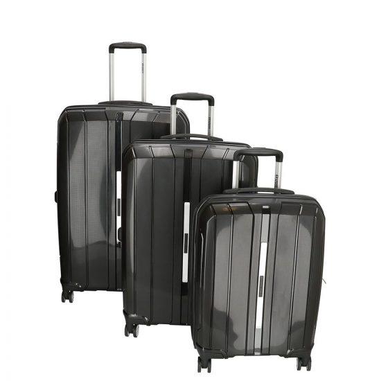 Enrico Benetti Portland kofferset 3-delig zwart
