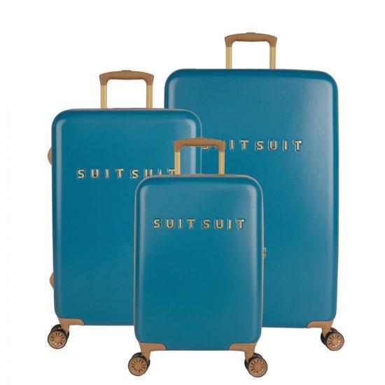 SUITSUIT Fab Seventies kofferset 3-delig seaport blue