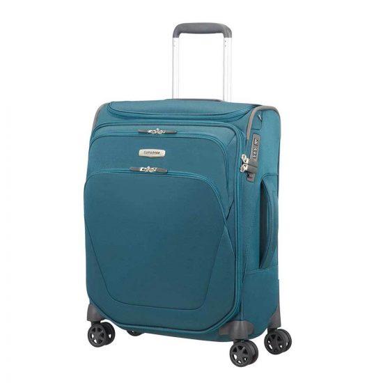 Samsonite Spark SNG Spinner 55 Toppocket petrol blue Zachte koffer