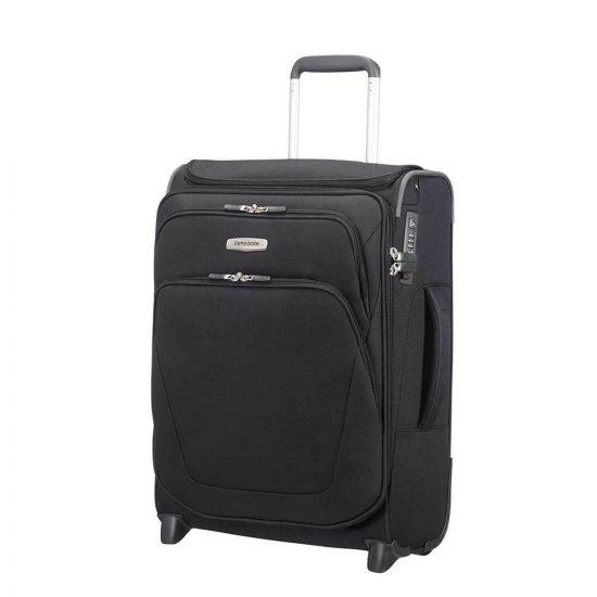 Samsonite Spark SNG Upright 55 Expandable Toppocket black Zachte koffer
