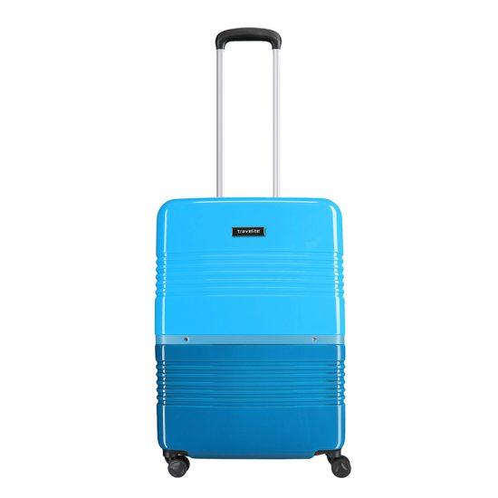 Travelite Frisco 4 Wiel Trolley S petrol/blue Harde Koffer