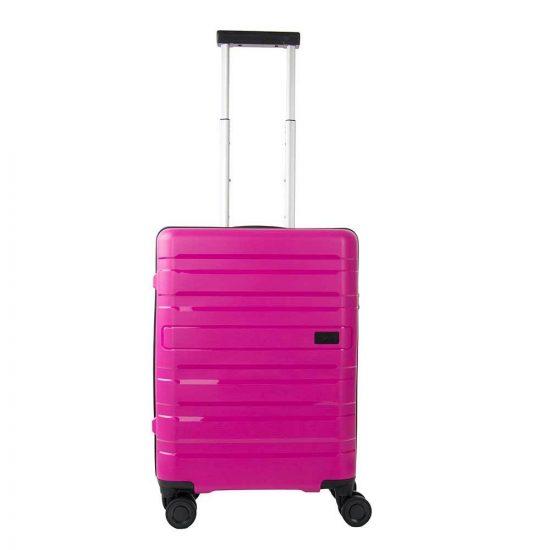 Travelite Kosmos 4 Wiel Trolley S pink Harde Koffer