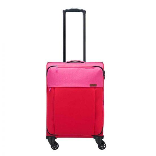 Travelite Neopak 4 Wiel Trolley S red / pink Zachte koffer