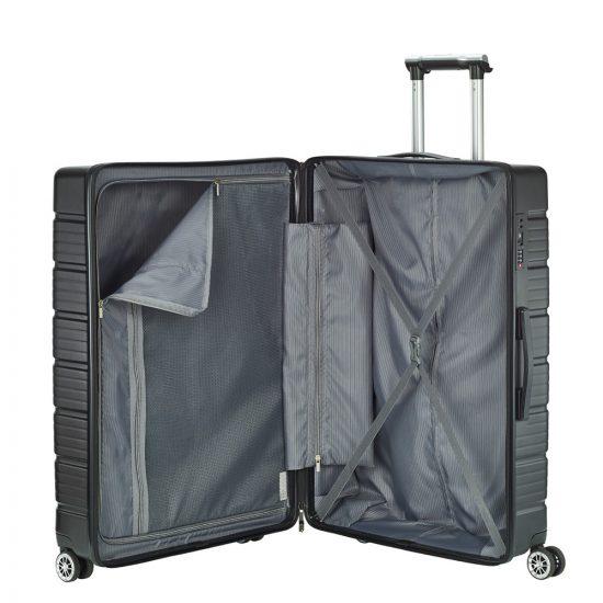 Travelite Soho 4w Trolley L silver Harde Koffer