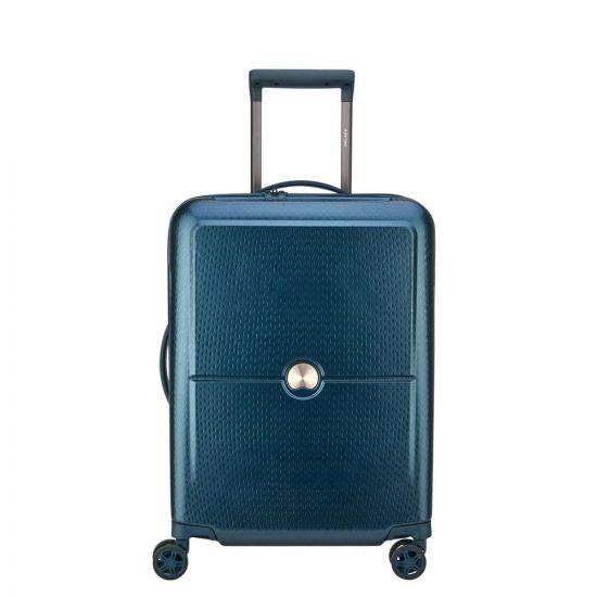 Delsey Turenne Slim Cabin Trolley 4 Wheel 55 Night Blue