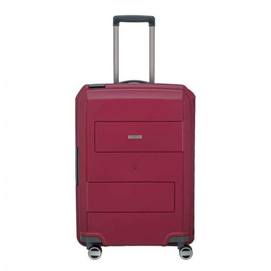 Travelite Makro 4 Wiel Trolley M red Harde Koffer