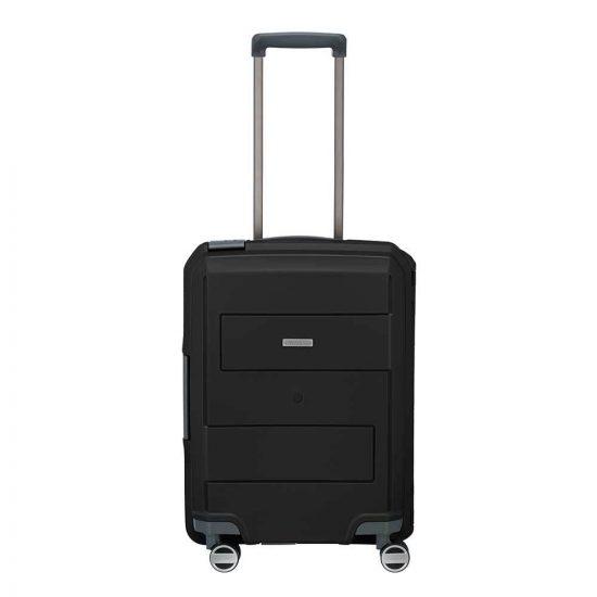 Travelite Makro 4 Wiel Trolley S black Harde Koffer