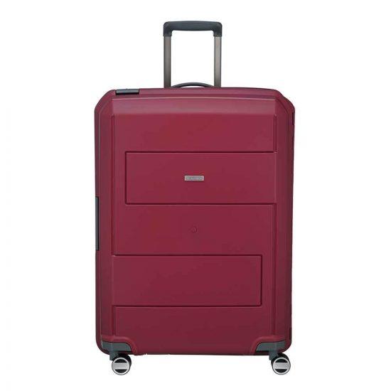 Travelite Makro 4 Wiel Trolley L red Harde Koffer