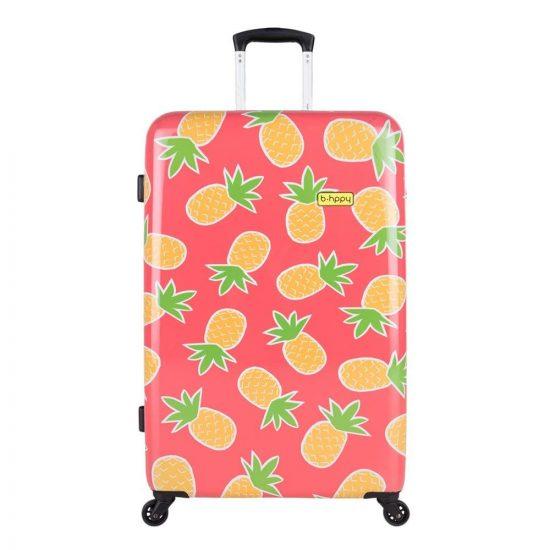 Bhppy Pretty Pineapple Trolley 77 roze Harde Koffer