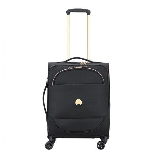 Delsey Montrouge 4 Wheel Slim Trolley 55 black Zachte koffer