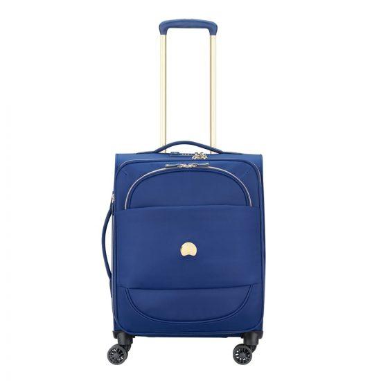 Delsey Montrouge 4 Wheel Slim Trolley 55 blue Zachte koffer