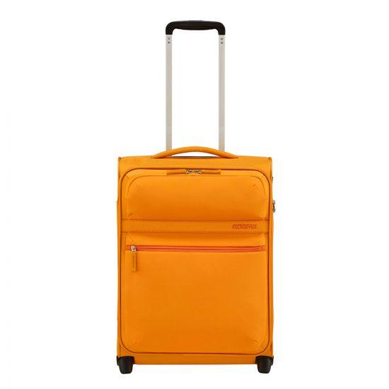 American Tourister Matchup Upright 55 popcorn yellow Zachte koffer