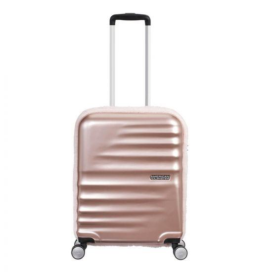 American Tourister Wavebreaker Spinner 55 Fur pastel roze Harde Koffer