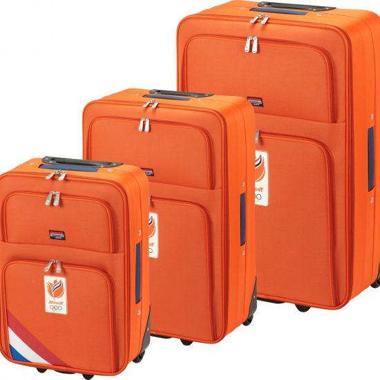 Princess Traveller Team NL - Kofferset - 55 / 64 / 75 cm - Soft - Oranje