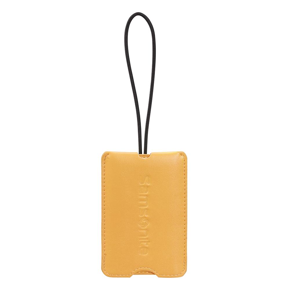 Samsonite kofferlabel geel