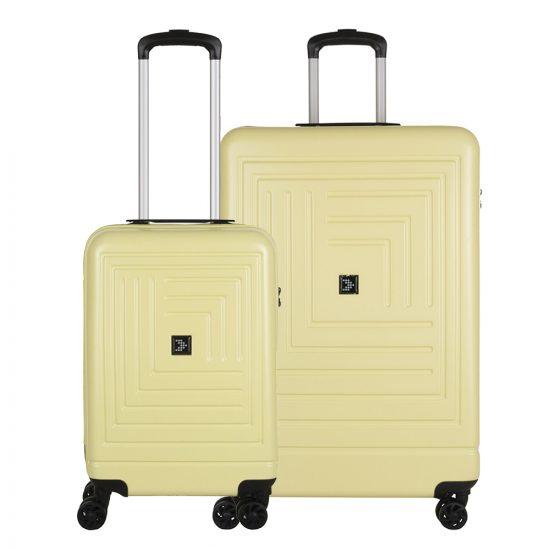 Travelbags Parijs 2 Delige Trolley Set pastel geel
