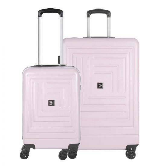 Travelbags Parijs 2 Delige Trolley Set pastel roze