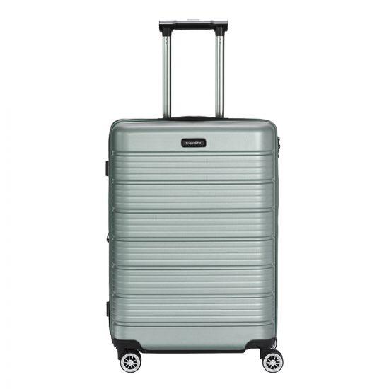 Travelite Soho 4w Trolley M expandable silver Harde Koffer
