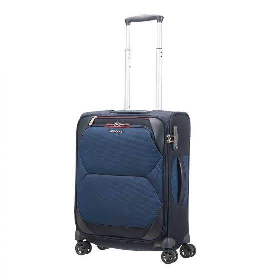 Samsonite Dynamore Spinner 55 Length 40 cm blue Zachte koffer