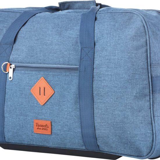 TravelZ Hipster Wieltas - Reistas met wielen - 51 liter - Jeans Blauw