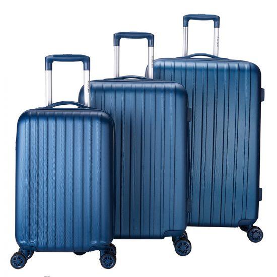 Decent Tranporto-One 3-Delige Kofferset Dark Blue