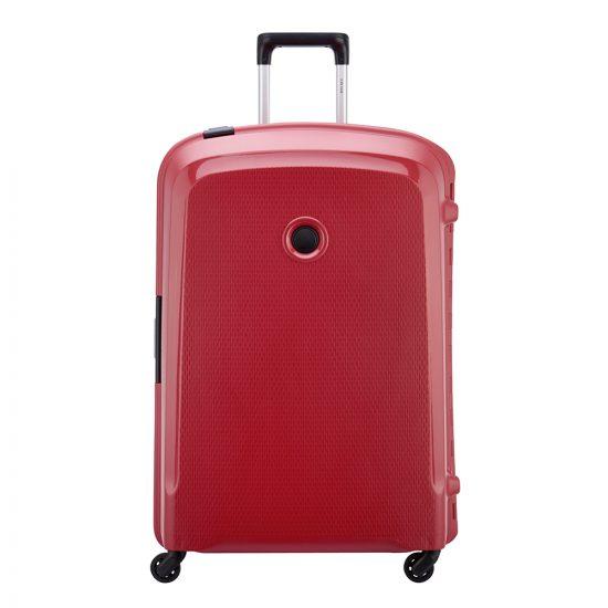 Delsey Belfort 3 4 Wiel Trolley 76 red Harde Koffer