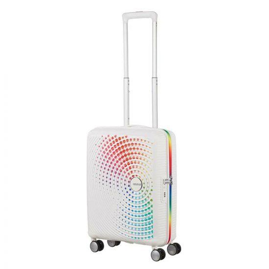American Tourister Soundbox Spinner 55 Pride Rainbow Dots