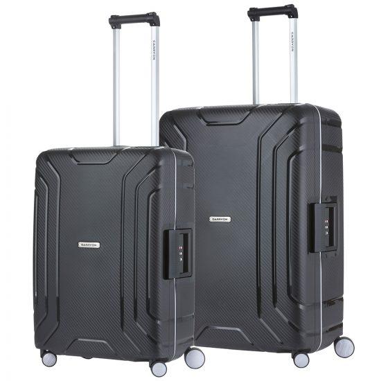CarryOn Steward Kofferset 2-delig M+L Black
