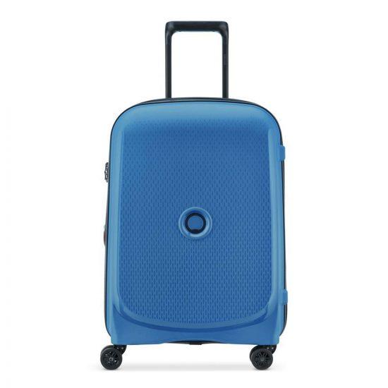 Delsey Belmont Plus Cabin Slim Spinner 55 Zinc Blue