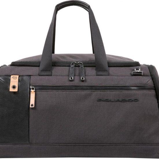 Piquadro Blade Duffel Bag with Trolley Strap black