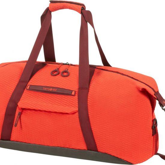 Samsonite Reistas Zonder Wielen - Neoknit Duffle 55/20 Fluo Red/Port