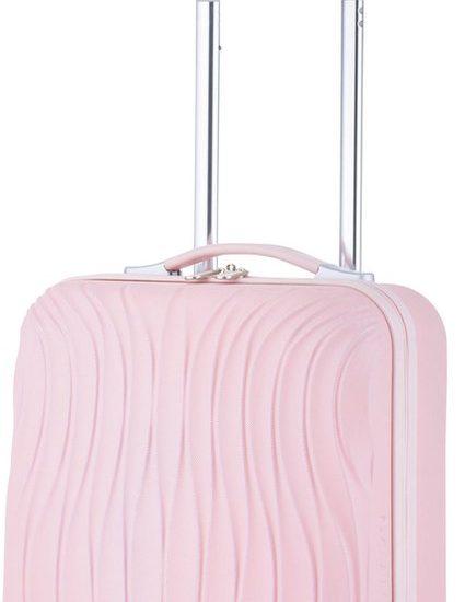 CarryOn Wave Handbagagekoffer - 55cm Handbagage met USB aansluiting - 5 jaar garantie - Roze