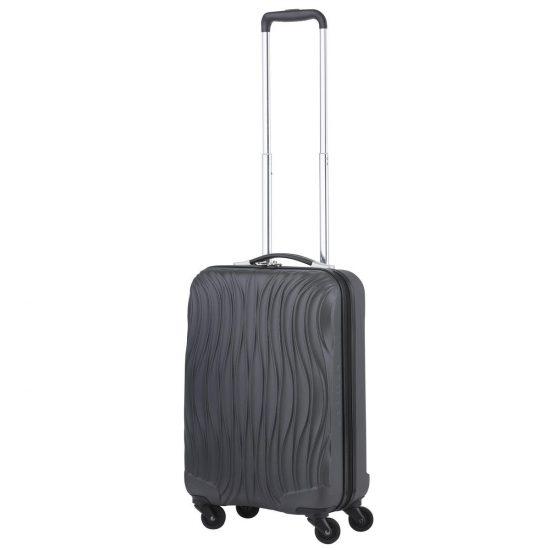 CarryOn Wave Handbagagekoffer - 55cm Handbagage met USB aansluiting - 5 jaar garantie - Zwart